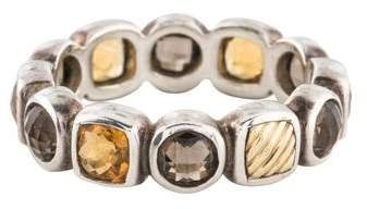 David Yurman Smoky Quartz & Citrine Chiclet Ring