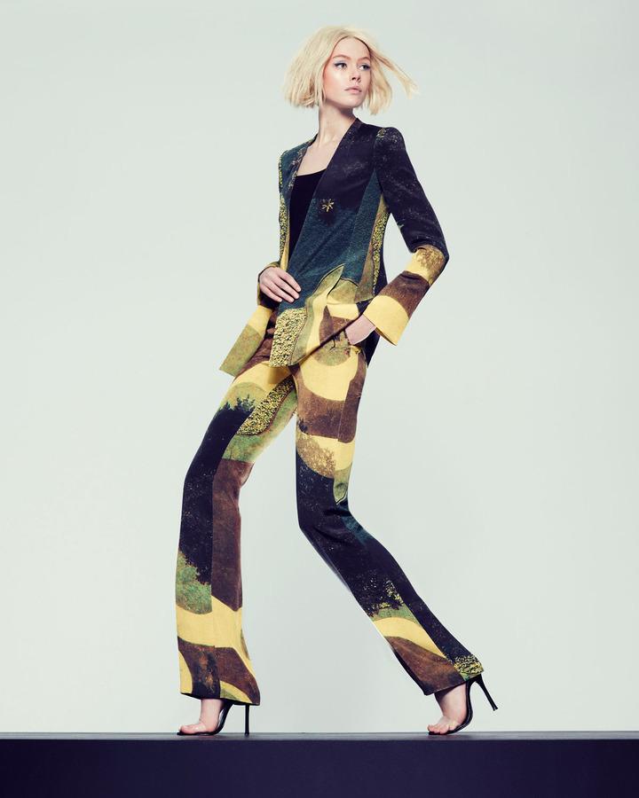 Akris Long Garden-Print Silk Crepe Jacket
