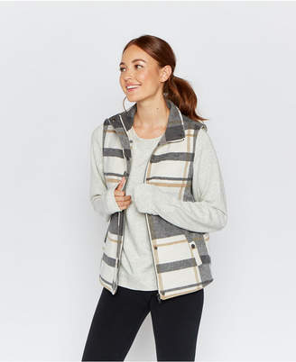 Thread Supply Plaid Faux Sherpa Lined Vest