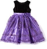 Purple Sequin A-Line Dress - Infant Toddler & Girls