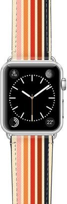 Casetify Retro Saffiano Faux Leather Apple Watch(R) Strap