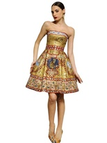 Dolce & Gabbana Embroidered Strapless Dress
