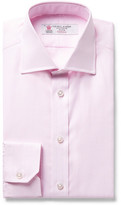 Turnbull & Asser Pink Slim-Fit Woven Cotton Shirt