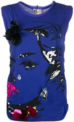 Lanvin Pre Owned 1990s applique face T-shirt