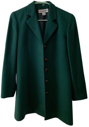 Christian Dior Green Wool Jackets