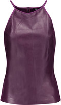 Raoul Leather and stretch-ponte tank