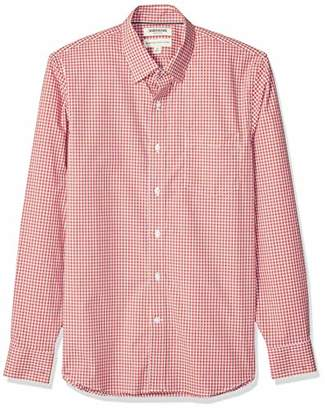 Goodthreads Standard-fit Long-sleeve Comfort Stretch Poplin With Easy-care Button Down Shirt,(EU L)