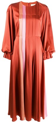 Roksanda Panelled Pleated Dress