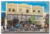 Cyclists at Roasters by Colleen Proppe, 22x32-Inch Canvas Wall Art