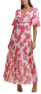 Kensie Pleated-Skirt Maxi Dress