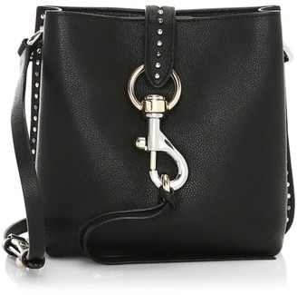 Rebecca Minkoff Megan Mini Metallic Leather Feed Bag