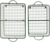 Metal Wire Storage Baskets, Set of 2
