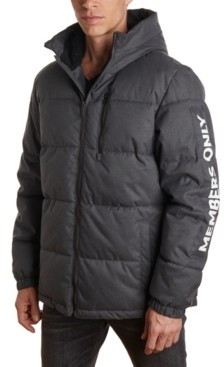 Members Only Member's Only Men's Puffer Jacket with Faux Sherpa Lined Hood