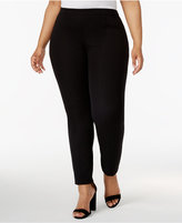 Alfani Plus Size Skinny-Leg Knit Pants, Only at Macy's