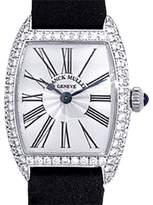"Franck Muller Diamond ""Cintree Curvex"" 18K White Gold Womens Dress Watch"