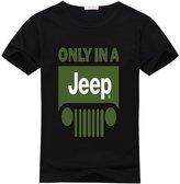 DIYgarment Men's Short Sleeve Custom T shirt with Jeep 1 Design
