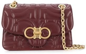 Salvatore Ferragamo Gancini quilted leather crossbody bag