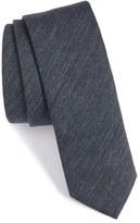 BOSS Solid Cotton & Silk Skinny Tie