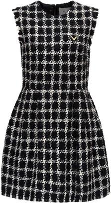 Valentino Short Dress Overcheck Tweed