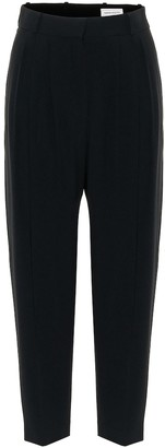 Alexander McQueen Crepe high-rise straight pants