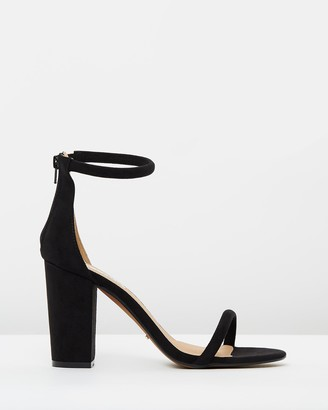 Billini - Women's Black Heeled Sandals - Quatro Block Heels - Size 5 at The Iconic