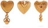 Chloé Collected Hearts set of three earrings