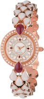 Titan Women's 9747WM01 Theme Raga Theme Raga Intricate Jewelry Inspired Crystal Rose Gold Tone Watch