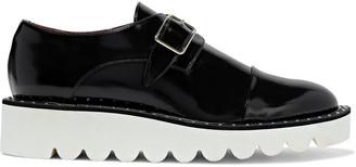 Stella McCartney Odette Faux Glossed-leather Platform Brogues