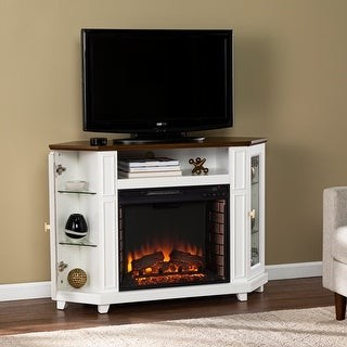Copper Grove Daventry Transitional White Wood Electric Fireplace