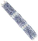 Cathy Waterman Platinum Diamond Multi Strand Bracelet