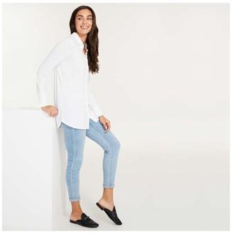 Joe Fresh Women's Knit Shirt, White (Size S)