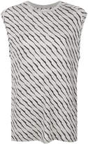 Zoe Karssen striped print sleeveless T-shirt