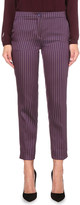 Etro Tapered geometric-jacquard trousers