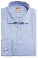Armani Collezioni Micro-Neat Modern-Fit Dress Shirt, Blue