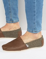 Toms Alpargata Espadrilles With Shearling Lining