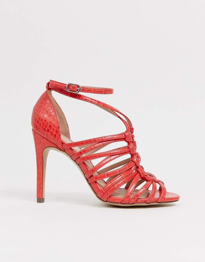 f3ec34a7fe9 woven strapping detail sandal in orange