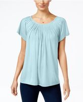 Style&Co. Style & Co Pleated-Neck Top, Only at Macy's