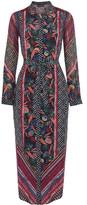 Saloni Molly Printed Silk-Chiffon Dress
