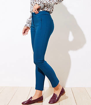 LOFT High Waist Zip Pocket Skinny Ankle Pants