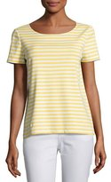 Lafayette 148 New York Short-Sleeve Striped Tee