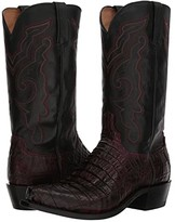 Lucchese Franklin (Black Cherry Hornaback Tail) Cowboy Boots