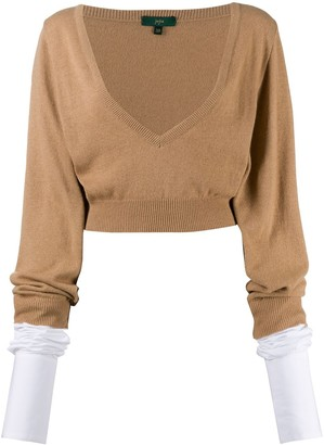 Jejia Cropped Long-Sleeve Jumper