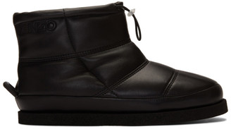 Kenzo Black Leather Kusco Boots