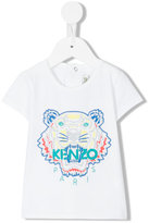 Kenzo tiger embroidery T-shirt - kids - Cotton/Spandex/Elastane - 6 mth