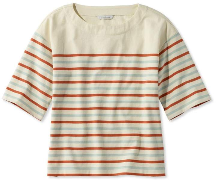 L.L. Bean L.L.Bean Signature Sailor Stripe Boxy Tee
