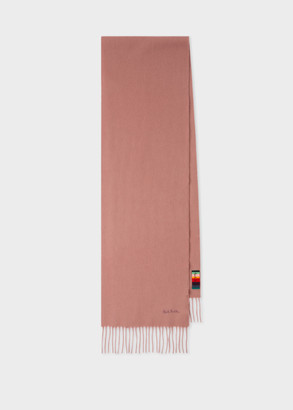 Paul Smith Dusky Pink Cashmere Scarf