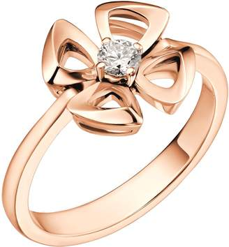 Bvlgari Rose Gold and Diamond Fiorever Ring