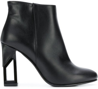 Albano Chunky-Heel Ankle Boots