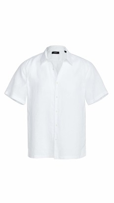 Theory Men's Irving Summer Linen Short Sleeve Shirt