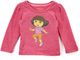 Children's Apparel Network Pink Sequin Dora Long-Sleeve Top - Infant